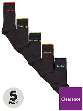 v-by-very-five-pack-days-of-the-week-socks-black