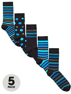 v-by-very-5-pk-spot-amp-stripe-socks-multi
