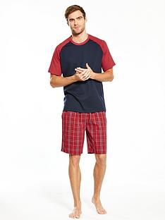 v-by-very-contrast-sleeve-t-shirt-amp-woven-check-shorts