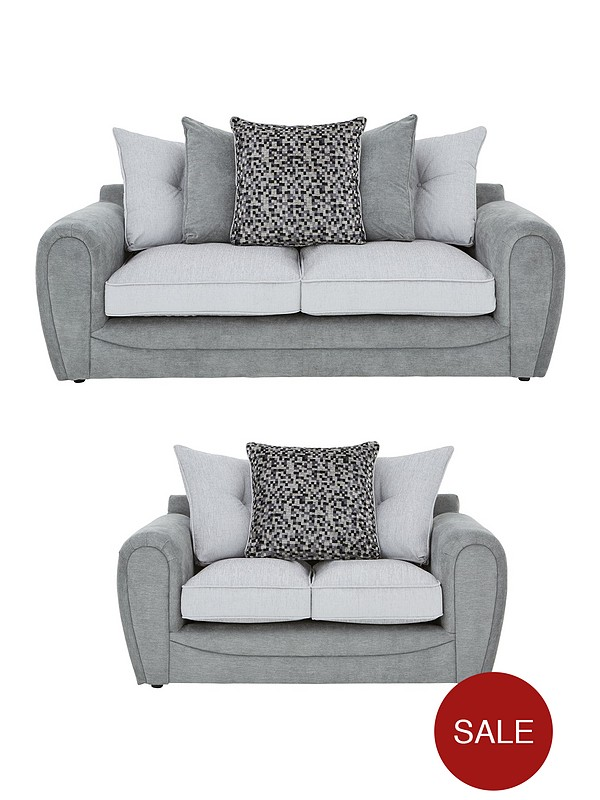 Mosaic 3-Seater + 2-Seater Fabric Sofa Set (Buy and SAVE!)