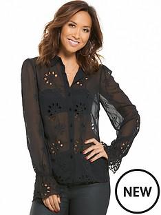 myleene-klass-broderie-detail-cuffed-blouse