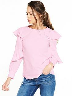 river-island-pink-frill-bardot-top