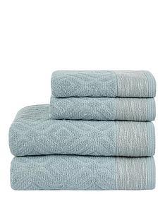 ideal-home-diamond-sculpted-4-piece-towel-bale