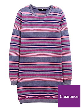 v-by-very-stripe-knitted-dress