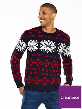 v-by-very-contrast-panel-fairisle-christmas-jumper