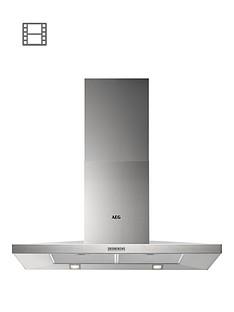 aeg-dkb3950m-90cm-pyramid-wall-chimney-cooker-hood