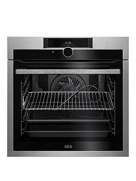 Aeg Bpe842720M 60Cm Electric Built In Single Oven  Stainless Steel