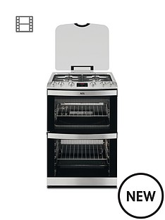 aeg-17166gm-mn-60cm-gas-built-under-double-oven-stainless-steel