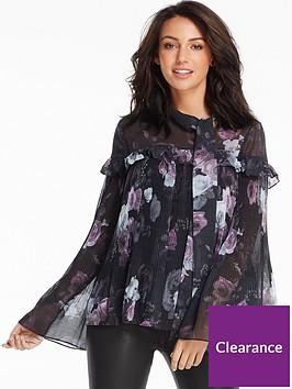 michelle-keegan-micro-pleat-peasant-blouse