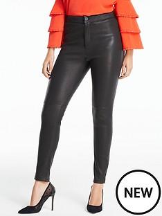 michelle-keegan-premium-stretch-leather-ankle-grazer-trouser