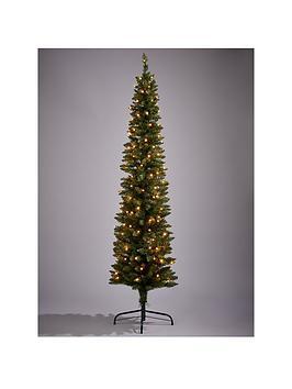 view larger - Pre Lit Pencil Christmas Tree