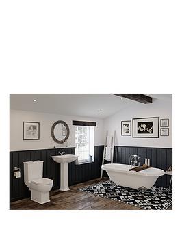 Elegance Bath Suite White Inc Taps