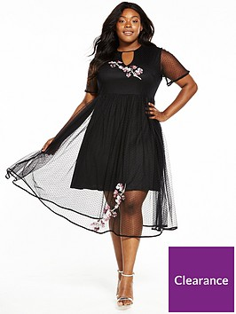 lost-ink-plus-premium-mesh-dress-with-embroidery
