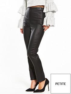 lost-ink-petite-coated-skinny-trouser-black