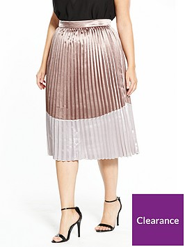 lost-ink-plus-lost-ink-plus-metallic-pleated-skirt