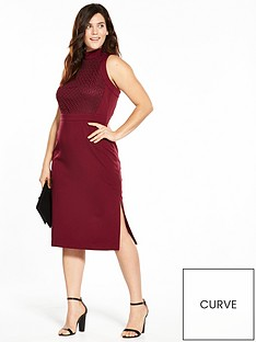 lost-ink-curve-lost-ink-curve-cornelli-high-neck-pencil-dress