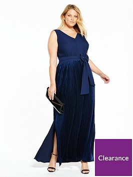 lost-ink-plus-velvet-pleat-maxi-dress