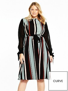 lost-ink-curve-striped-skater-dress