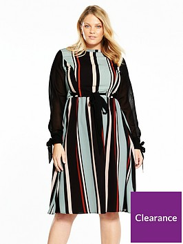 lost-ink-plus-striped-skater-dress