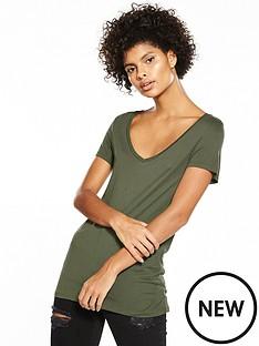 v-by-very-premium-v-neck-t-shirt-khaki