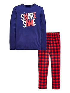 v-by-very-lumberjack-check-xmas-pj-set