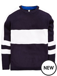 v-by-very-boys-stripe-jumper-navywhite