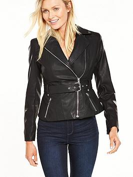 lost-ink-belted-pu-biker-jacket-black