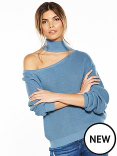 lost-ink-cut-out-neck-jumper