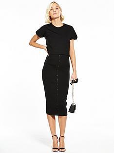 lost-ink-double-layer-dress-blacknbsp