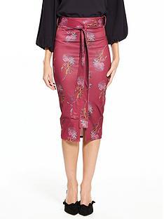 lost-ink-lost-ink-juxtapose-floral-belted-pencil-skirt