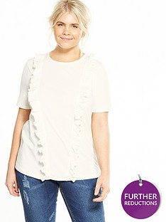 lost-ink-curve-pleat-frill-front-t-shirt-white