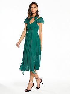 lost-ink-chiffon-strappy-midi-dress-green