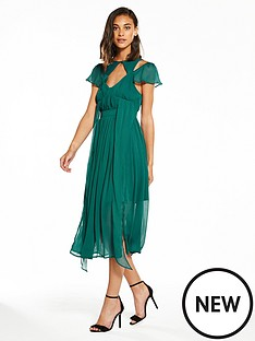 lost-ink-chiffon-strappy-midi-dress-green