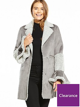 lost-ink-shearling-throw-on-coat-grey