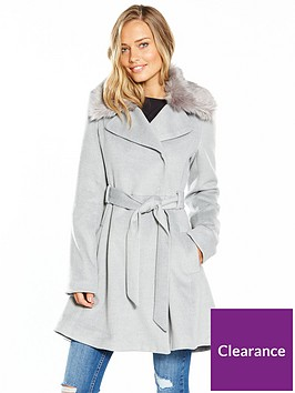 lost-ink-full-skirted-faux-fur-collar-coat-light-grey