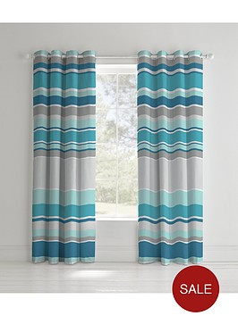 catherine-lansfield-textured-stripe-lined-eyelet-curtains
