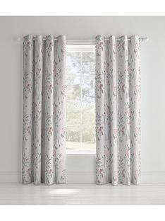 catherine-lansfield-botanical-gardens-eyelet-curtains