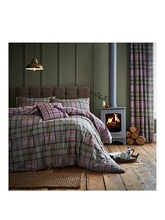 catherine-lansfield-heritage-kelso-check-cotton-rich-duvet-cover-set