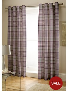 catherine-lansfield-heritage-kelso-check-lined-eyelet-curtains