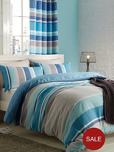 catherine-lansfield-textured-stripe-duvet-cover-set-teal