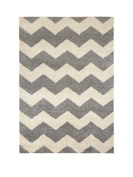 ideal-home-shaggy-chevron-rug