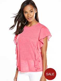 v-by-very-frill-slub-t-shirt-coral