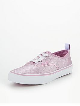 3f45e5beeb36 Vans Vans UY Authentic Elastic Lace Glitter Junior Trainer ...