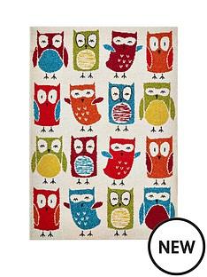 owl-print-rug
