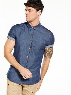v-by-very-short-sleeve-chambray-shirt