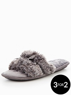 totes-isotoner-totes-pillowstep-fluffy-open-toe-mule-slippers