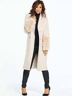 myleene-klass-faux-fur-cuff-coat-cream