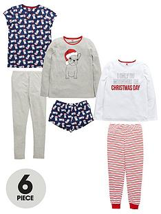 v-by-very-girls-christmas-day-pug-pyjama-set-6-piece