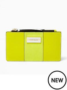 river-island-river-island-green-panelled-slim-foldout-purse