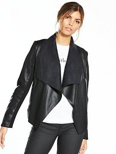 v-by-very-waterfall-leather-look-jacket